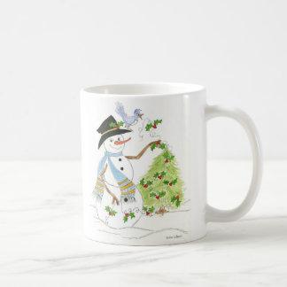 Single Snowman mit Drossel Tasse