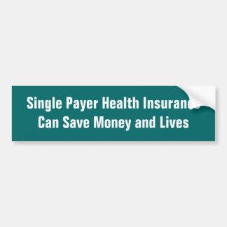 Single-Zahler-Krankenversicherung kann das Geld Autoaufkleber