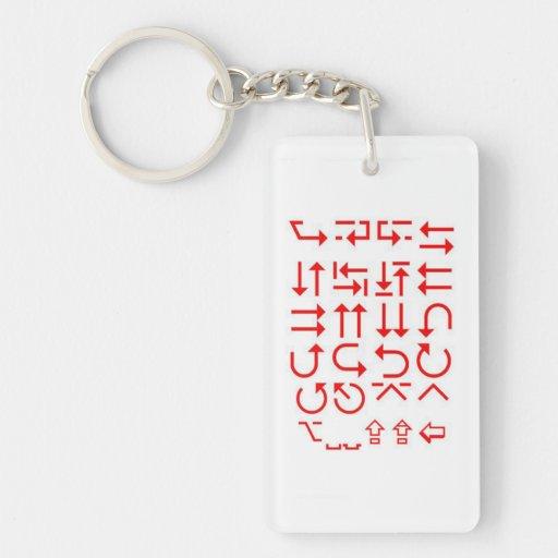 Singleseite Druck-Schlüsselkette Acryl-PFEILE Schlüsselanhänger
