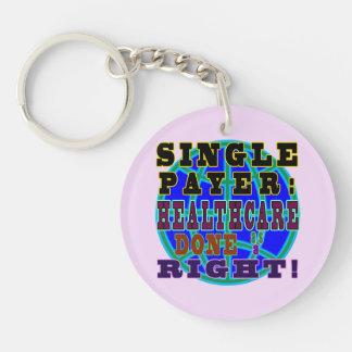 Singlezahler rundes keychain schlüsselanhänger