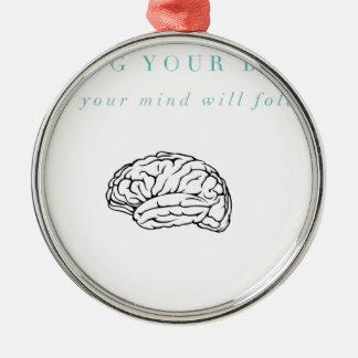 Sinneskörper-Stipendium OM, die Erholung treffen Silbernes Ornament