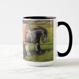 Sinti und Roma-Gemisch Vanner Pferd, Pferde Tasse