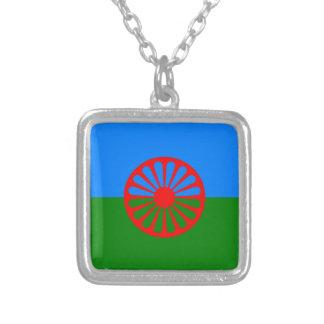 Sinti und Romaflagge Versilberte Kette