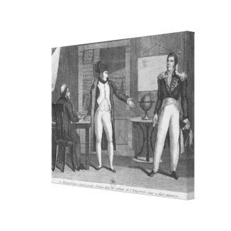 Sir Hudson Lowe, das in die Studie von Napoleon ko Leinwand Drucke