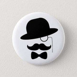 Sir mit dem Schnurrbart Runder Button 5,7 Cm