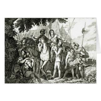 Sir Philip Sidney Kindness zu einem Soldaten, 1815 Grußkarte