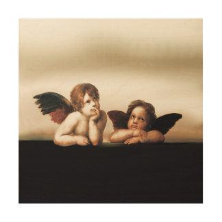 Sistine Madonna Engel-Denken Holzwanddeko