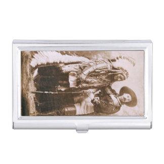 Sitting Bull und William F. Cody Vintage Visitenkarten Dose