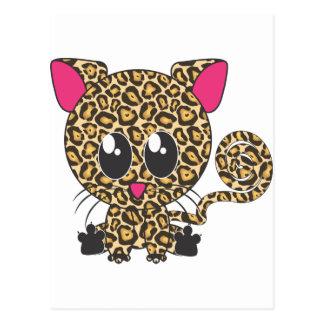 Sitzendes Jaguar Postkarte