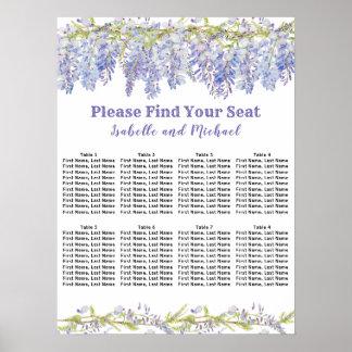 Sitzplatz-Diagramm der Poster