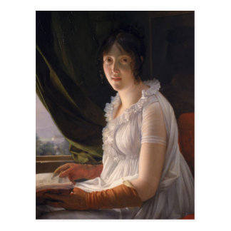 Sitzporträt von Marie-Philippe-Claude Postkarte