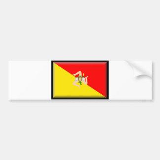 Sizilien-Flagge Autoaufkleber