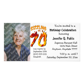 Sizzling bei 70 Geburtstags-Party-Foto-Einladung Photokarten