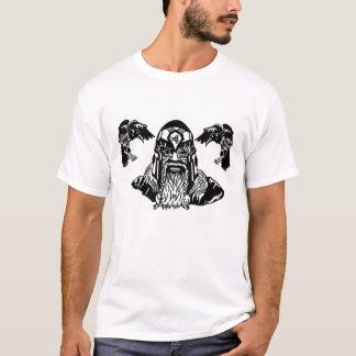 Skandinavier-Gott Odin und Raben T-Shirt
