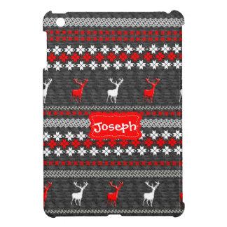 Skandinavisches Rotwild-Weihnachtsmuster iPad Mini Hüllen