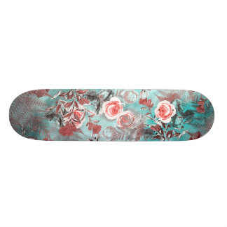 Skateboard-Blumen Pastell 18,1 Cm Old School Skateboard Deck