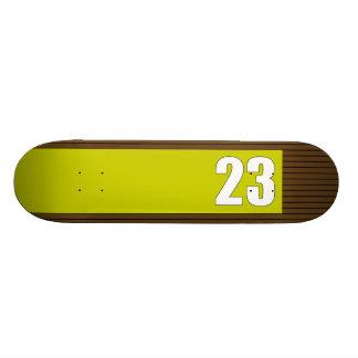 Skateboard Platte auf dem Streifen Limon+Schoko Personalisierte Skateboarddecks