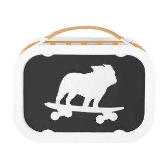 Skateboarding Bulldoggen-Silhouette Brotdose