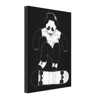 Skateboarding Panda Leinwanddruck