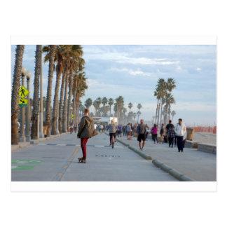Skaten zu Venedig-Strand Postkarte