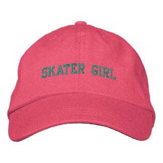 Skater-Mädchen gestickte Kappe Baseballkappe