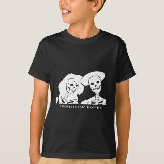 Skeleton Paar-weißer Entwurf T-Shirt