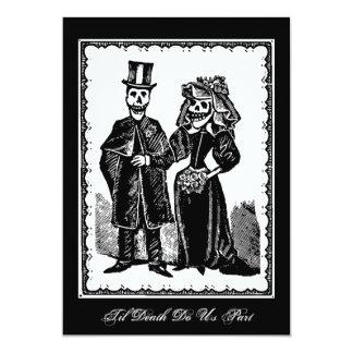 Skeleton Paare - Einladung