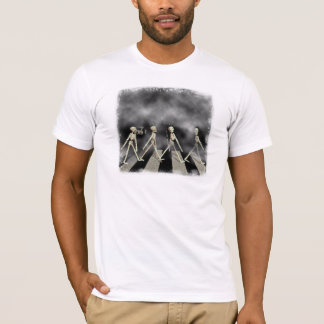 Skeleton Straße T-Shirt