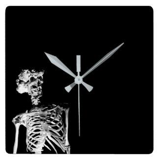 Skelett Quadratische Wanduhr