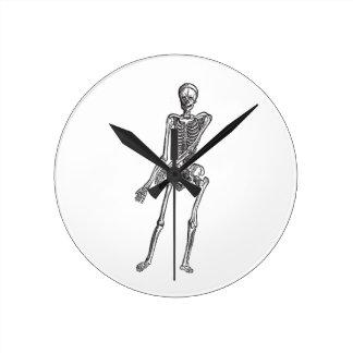 Skelett Runde Wanduhr