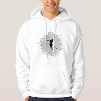 Ski-Gekritzel-Art Hoodie
