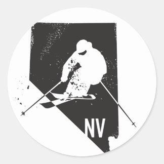 Ski Nevada Runder Aufkleber