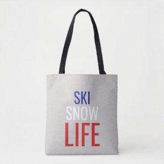 Ski, Schnee, Leben-Taschen-Tasche