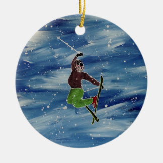 Skifahrenverzierung Keramik Ornament