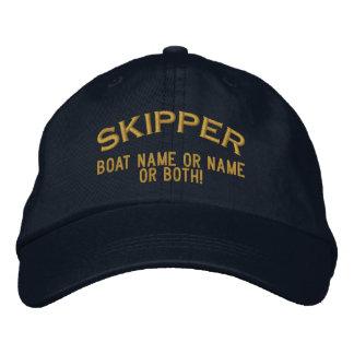 Skipper Ihren Boots-Namen Ihr Name oder beide! Bestickte Kappe