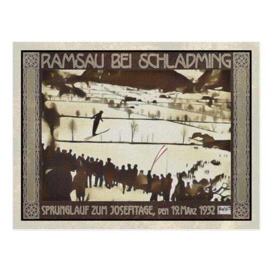 Skispringen 1932 postkarte