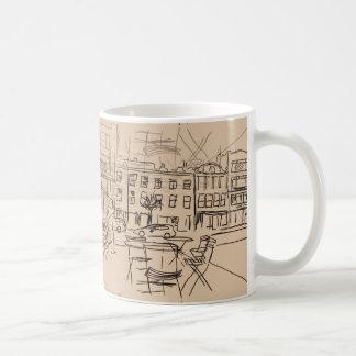 Skizze auf dem Lauf auf GetränkeTasse Kaffeetasse