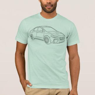 Skizze Subarus WRX T-Shirt
