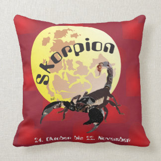 Skorpion 24. Oktober bis 22 November Kissen