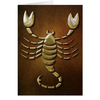 Skorpion am 23. Oktober - 22. November Karte