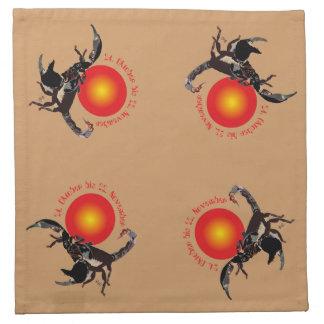 Skorpion - Sternzeichen Stoff-Servietten (4er-Set) Serviette