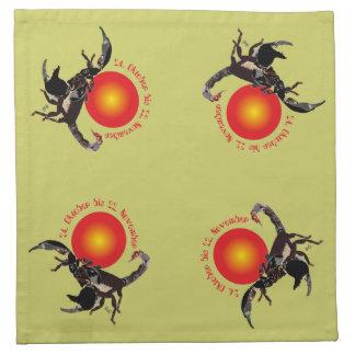 Skorpion - Sternzeichen Stoff-Servietten (4er-Set) Stoffserviette