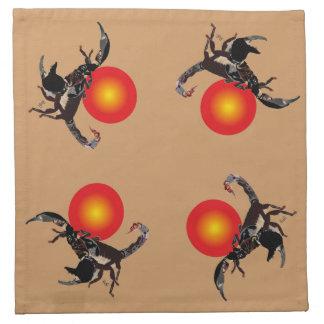 Skorpion - Stoff-Servietten (4er-Set) Serviette