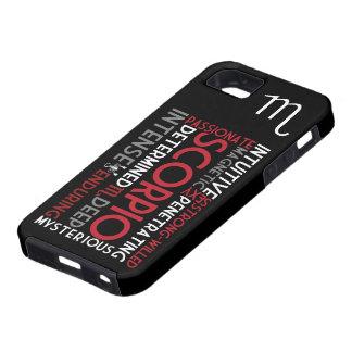 Skorpions-Astrologie-Wort-Collage iPhone 5 Fall iPhone 5 Schutzhüllen