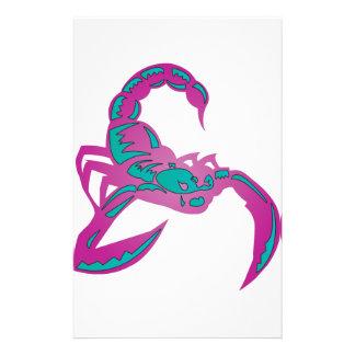 Skorpions-Bild-lila aquamarines Personalisierte Druckpapiere