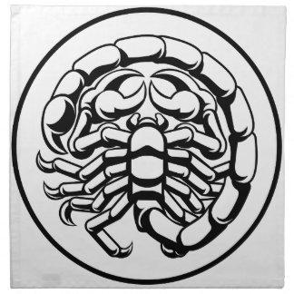 Skorpions-Skorpions-Horoskop-Tierkreis-Zeichen Stoffserviette