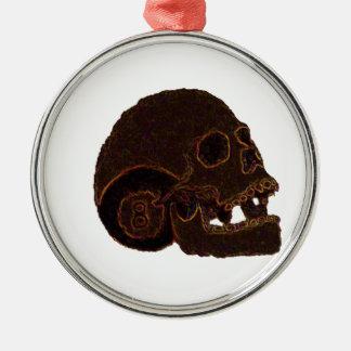 skull2 silbernes ornament