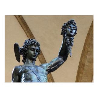 Skulptur Florenz, Italien Postkarte