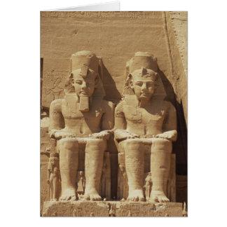 Skulptur in Abu Simbel - Kairo, Ägypten Karte