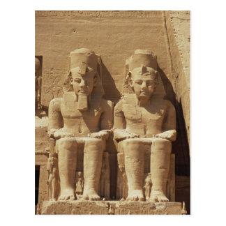 Skulptur in Abu Simbel - Kairo, Ägypten Postkarte